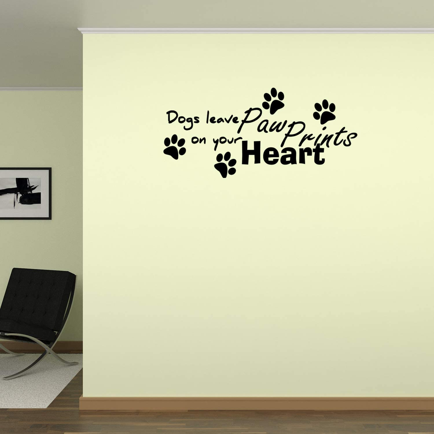 bedroom decoration office cwd218 Dogs wall decal Lettering wall decal sticker Quote wall decal Animals wall sticker home decor