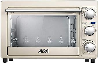 Horno eléctrico doméstico, pequeño horno automático para hornear pasteles, mini horno inteligente multifuncional, control de temperatura independiente de los tubos superior e inferior, capacidad 16L