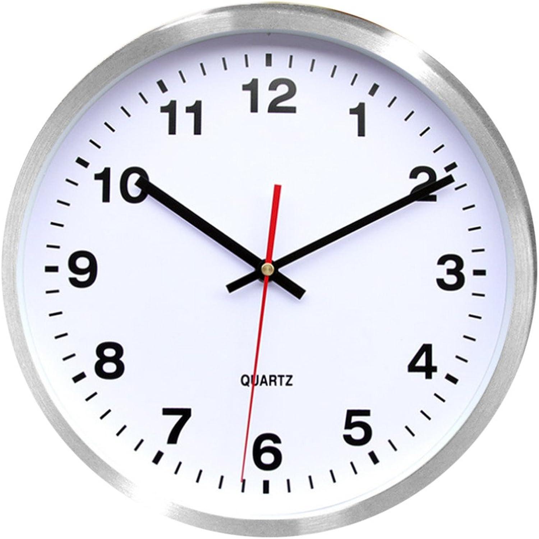 minorista de fitness Shuangklei 12 12 12 Pulgadas Breve Ronda Comedor Salón Silencioso Non-Ticking Reloj Relojes De Parojo Colgante Decoración Del Hogar Doméstico, blancoo  40% de descuento