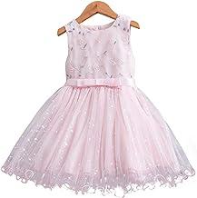 Mubineo Little Girls Sleeveless Tutu Party Sequin Flower Dress Toddler Formal Pageant Dresses