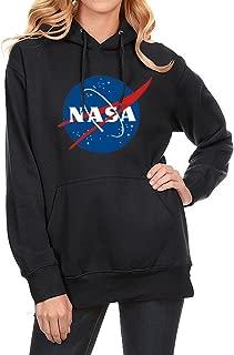 Men Women Unisex Fashion NASA Letter Print Long Sleeve Hoodie Sweatshirt