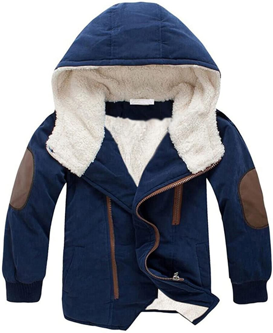 Gaorui Boys Winter Hooded Down Coat Thick Kid Opening large Ranking TOP15 release sale Inside Wool Jacket