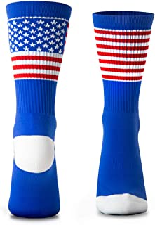 American Flag Woven Mid-Calf Socks | Patriotic Stars & Stripes | One Size Fits Most