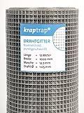 kraptrap® Volierendraht Käfigdraht Drahtgitter 12x12mm (1m x 12m)