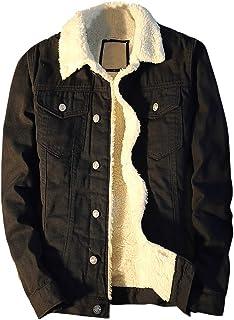Mirroryou デニムジャケット メンズ 秋冬 裏起毛 ボアデニムジャケット 防寒保温 長袖 ジージャン スリム アウター ダーメジ ファッション 普段着 アウトドア S-5XL 全5色