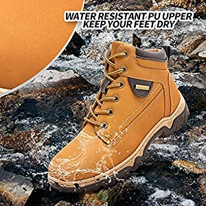 Adokoo Women's Hiking Boots Waterproof Backpacking Boots Ankle Booties(Chestnut,US8)