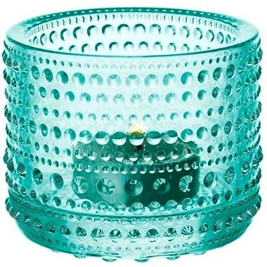 Iittala Kastehelmi Tea Light Holder Aquatic Green