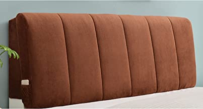 Headboard Cover Soft Case Smooth Quilted Solid Color Headboard Dust Protector Cover Flannel Bed Headboard Slipcover (Color...