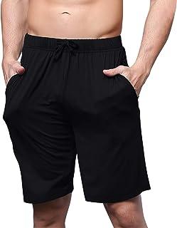 YAOMEI Men's Pyjamas Bottoms Shorts Cotton, Nightwear Underwear Boxer Casual Trunks Trousers Pants with Adjustable Elastic...