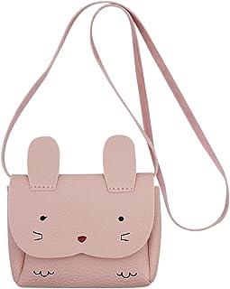 Aibearty Little Girls PU Leather Coin Purse Cute Rabbit Shoulder Bag Mini Crossbody Satchel Kids Toddlers Handbags