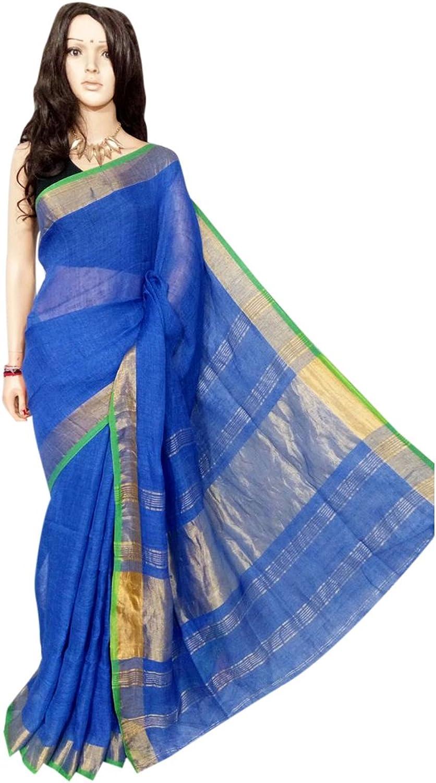 Linen by linen 80 count Saree Full weaving work by weavers traditional handoom Bengal Women sari Indian Ethnic Festive saree 113 21