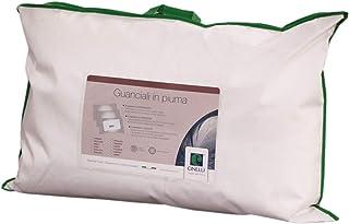 Cinelli Rio Oreiller double chambre effet mémoire de chambre extérieure 100 % duvet d'oie hypoallergénique lavable