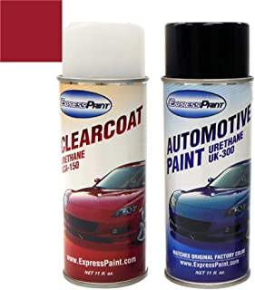 ExpressPaint Aerosol - Automotive Touch-up Paint for Jeep Wrangler - Deep Cherry Red Crystal Pearl Clearcoat PRP/JRP - Color + Clearcoat Package