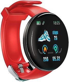 KawKaw Reloj inteligente DX para mujer, hombre y niños, con monitor de sueño, contador de calorías, podómetro, pulsómetro, monitor de actividad con función táctil, para iOS y Android