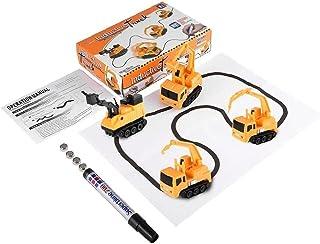 Scribing Inductive Truck Automatische Inductie Road Car Markering techniek Auto met Pen Creative Car Toy Kinderspeelgoed