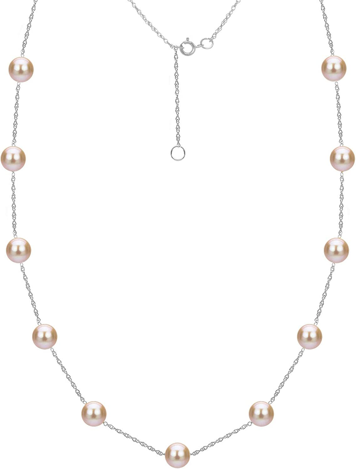 Tin Cup Station Chain Ranking TOP20 Cultured 18 Pink Freshwater Necklace cheap Pearl