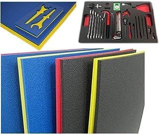 "5S Tool Box Shadow Foam Organizers (2 Color) Custom Size (18"" x 36"", Blue Top/Red Bottom)"