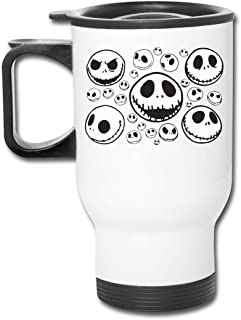 HTlcuup Nightmare Before Christmas Jack Skellington Stainless Steel Travel Mug Coffee Cup for Home, Office, School