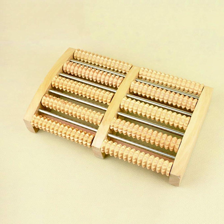 適度なハンドブック恒久的フットマッサージャー全木製足底マッサージャーローラー式足のリラクゼーションマッサージャー
