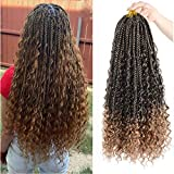 Best Hair For Crochet Braids - 7 Packs Crochet Box Braids with Curly Ends Review