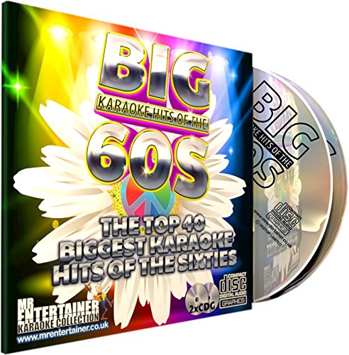 Mr Entertainer Big Karaoke Hits of The 60's (Sixties) - Double CD+G (CDG) Pack. 40 Classic Songs. música de los años sesenta