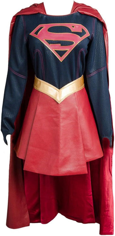 MingoTor Superheldin Supermädchen Kleid + Umhang Cosplay Kostüm Damen L B07K24TCGP Rich-pünktliche Lieferung  | Lebendige Form
