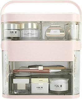 Multifunctionele Make-uporganizer met Make-upspiegel, Draagbare Doorzichtige Opbergdoos Voor Make-up, Desktop Diverse Opbe...