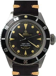 Sea Diver Diver Acero Automático Miyota Negro Cuero Reloj Unisex