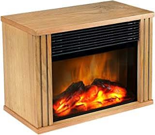 DONYER POWER Mini Electric Fireplace 1500W Protable Fireplace Heater, Wood Fram,Gift