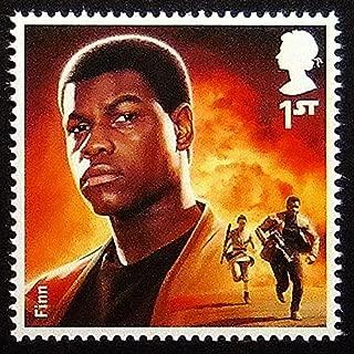 Finn Star Wars UK -Handmade Framed Postage Stamp Art 0258