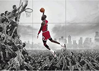 MICHAEL JORDAN NBA SLAM DUNK HUGE GIANT PICTURE POSTER ART JM072