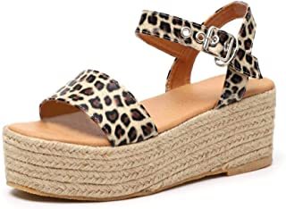 HEASEA Summer Womens Platform Sandals Espadrilles Sandals Ankle Adjustable Strap Open Toe
