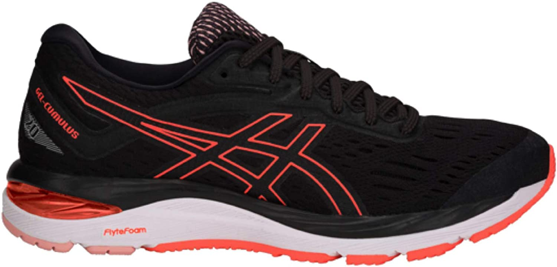 Gel Cumulus 20 Ladies springaning skor - - - svart  orange  det bästa nätbutikbjudandet
