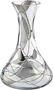 Quality Products Vase en Verre soufflé à la Bouche/décoré à la Main en mosaïque Argenté 20 cm