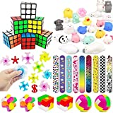 Kids Party Toys, Party Favors Assortment, Party Supplies Kit, Mochi Squishies, Puzzles for Birthday Party, Classroom Rewards, Carnival Prizes, Pinata Filler, Treasure Box, Goody Bag Fillers (38 Pack)