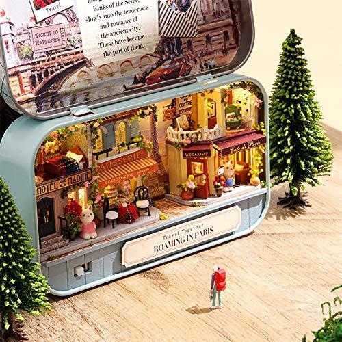 ZGL Mini Box assemblato Fai-da-Te Teatro delle Bambole, Modello di teatro a Tema Fai-da-Te casa delle Bambole, Scatola di Latta retrò in Miniatura 3D Regalo di Compleanno Perfetto (F)