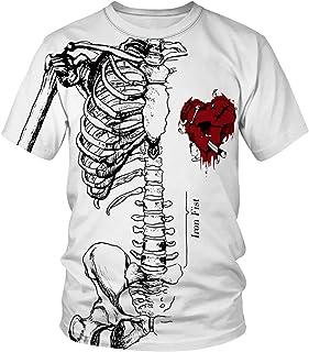 Design Grafico Tee Wellcoda Biker Gotico Rider Teschio Da Donna V-Neck T-shirt