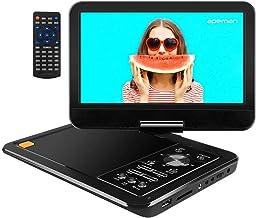 """APEMAN 10.5"""" Lettore DVD Portatile per Auto con Schermo Rotante Incassato la Batteria Ricaricabile la Carta di SD e USB Formato di Trasmissione Diretta AVI/RMVB / MP3 / JPEG Lettore DVD"""
