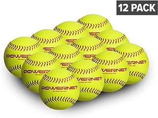 "PowerNet Practice Softballs   12 PK Recreation Grade 12"" Balls   Perfect for Softball Soft Toss, Batting, Fielding, Hitting, Pitching, Practice or Training"