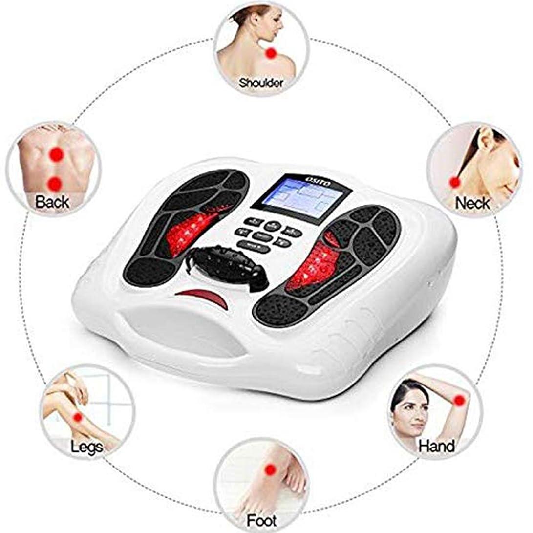 渦眩惑するお風呂を持っているEMSの足マッサージ&ボディセラピーマシン-25マッサージモード、4ボディ電極パッド、リモートコントロールは、血液循環を改善し、痛み&痛みを和らげ
