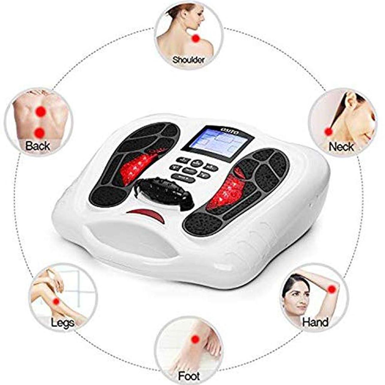 あからさまジョガー確認するEMSの足マッサージ&ボディセラピーマシン-25マッサージモード、4ボディ電極パッド、リモートコントロールは、血液循環を改善し、痛み&痛みを和らげ