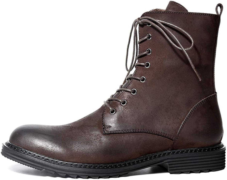 Herren Stiefeletten Aus Echtem Leder Militär Vintage Winter Lace Lace Lace UP Reißverschluss High Rise Business Schuhe Martin Stiefel B07JXYQ4SW  afd1c0