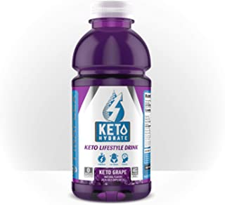 Keto Hydrate, Keto Lifestyle Drink, BHB (Ketones) for Energy, Electrolytes, Sugar and Caffeine Free, Burn Fat, Focus, Lose Weight, Perfect for Intermittent Fasting (Keto Grape)