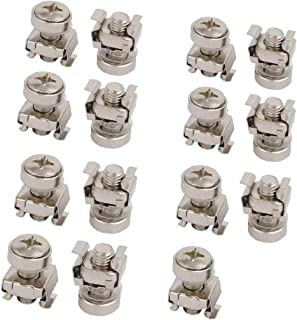 X-DREE 15pcs M6 Cage Nuts w Mounting Screws Washers for Server Rack Cabinet (7a56fa6b-a222-11e9-8d7c-4cedfbbbda4e)
