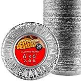 Stock Your Home 6 Inch Aluminum Foil Pie Pans (50 Count) - Disposable & Recyclable Mini Pie Pans - Foil Pie Tin for Bakeries, Cafes, Restaurants - Durable Mini Pie Pans For Baking, Fruit Tarts, Quiche