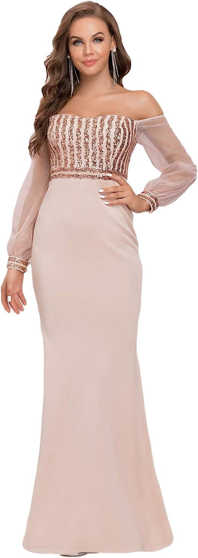 Ever-Pretty Popular Popular product Women's Cold Shoulder Sequin Mermaid Evening D Dress