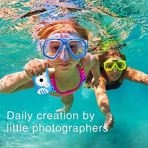 XHLLX wasserdichte Digitalkamera Für Kinder, Camking HD 1080P Unterwasser-Videokamera Für Kinder 18 MP 2.7 Zoll-Schirm-8X Mini-Cartoon-Kinder-Digital-Videokamera-Camcorder