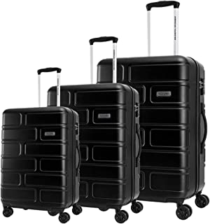 American Tourister Luggage Trolley Bags 3 Pcs, Black, Unisex