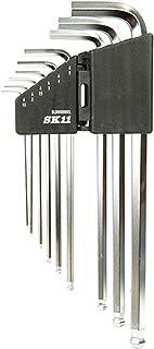 SK11 ボールポイント 六角棒レンチセット 1.5~10mm 傾き35度 エキストラロング SLBW09MEL