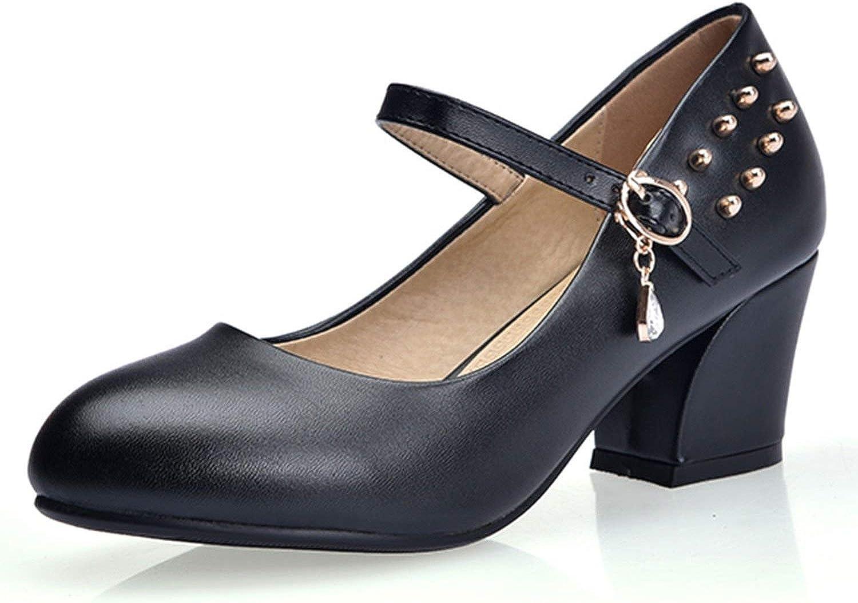 FINDYOU Women Ankle Strap Pumps Platform Square High Heels Fashion Buckle Strap Party shoes Women Black White